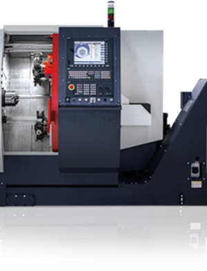 دستگاه تراش Twin Turret Twin spindle CNC Lathe EMCO Hyperturn 45