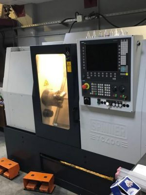 دستگاه تراش CNC Lathe with C axis Spinner TC400-52 MC