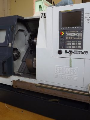 دستگاه تراش CNC Lathe with C axis Spinner TC600-65 MC