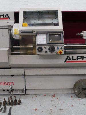 دستگاه تراش CNC LathesHARRISON Alpha 400 400mm x 1250mm CNC Lathe. With Fanuc GE Control